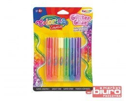 KIDS CREATIVE KLEJ BROKATOWY RAINBOW 6SZTX10,5ML