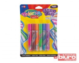 KIDS CREATIVE KLEJ BROKATOWY SPIRALA 6SZTX10,5ML