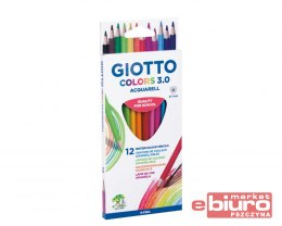 GIOTTO KREDKI COLORS 3.0 AQUARELL 12 SZT
