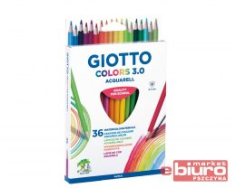 GIOTTO KREDKI COLORS 3.0 AQUARELL 36 SZT