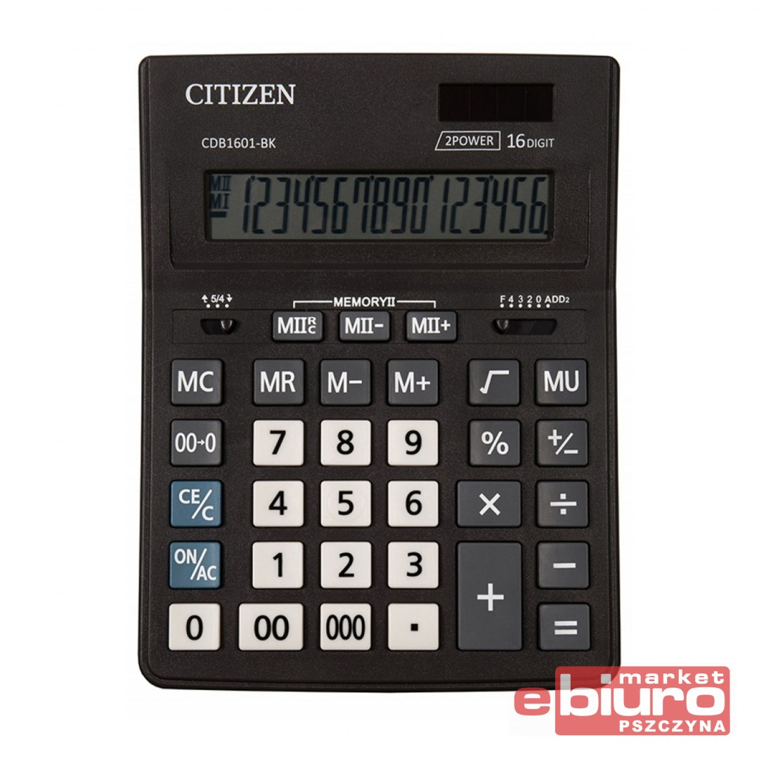 KALKULATOR CITIZEN CDB1601-BK BUSINESS CZARNY